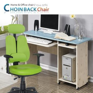 [초원몰] 입식컴퓨터책상+의자세트 슬라이딩트레이